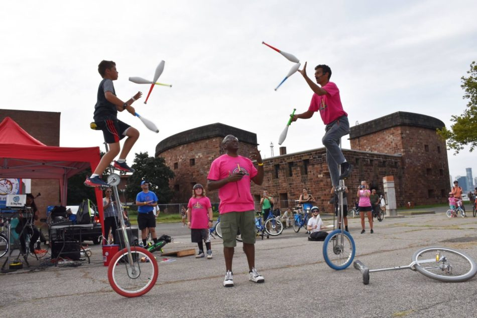 10th Annual NYC Unicycle Festival on Governors Island